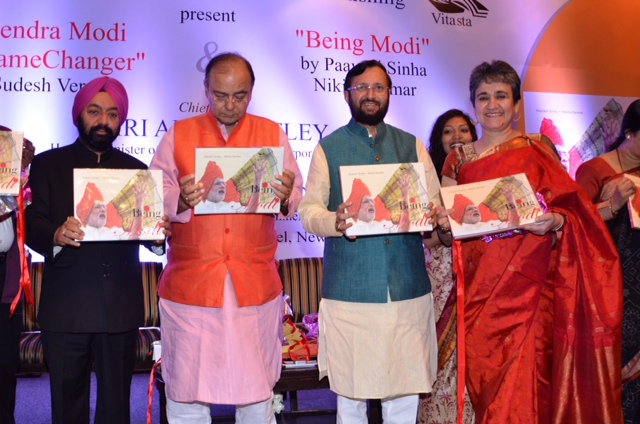AT the Book launch of Hon'ble PM Shri N. Modiji