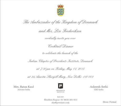 invite Presidents Institute, India