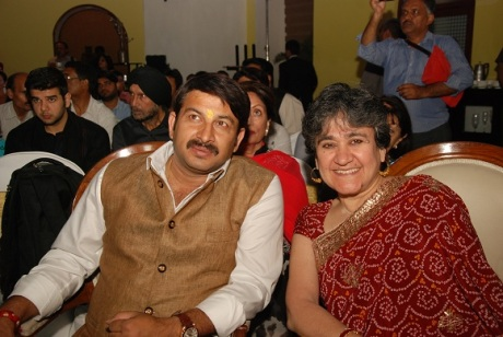 Manoj Tiwari at Rama Pandey's Book Launch