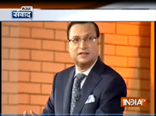 Sh Rajat Sharma on a point