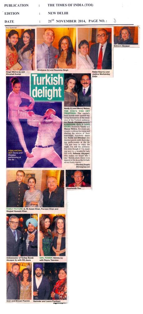 TOI - Delhi Times - 21st Nov 2014